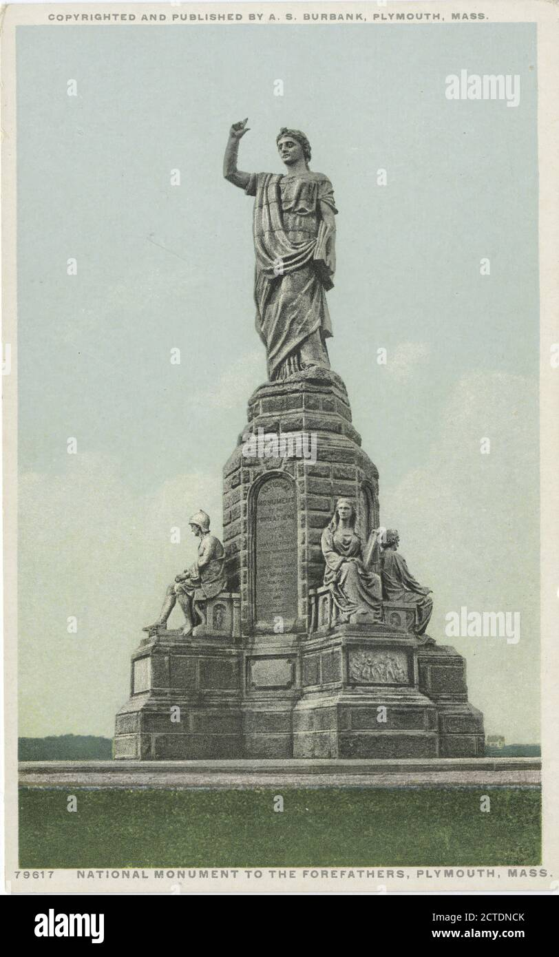 National Monument to the Forefathers, Plymouth, Mass., still image, Postcards, 1898 - 1931 Stock Photo