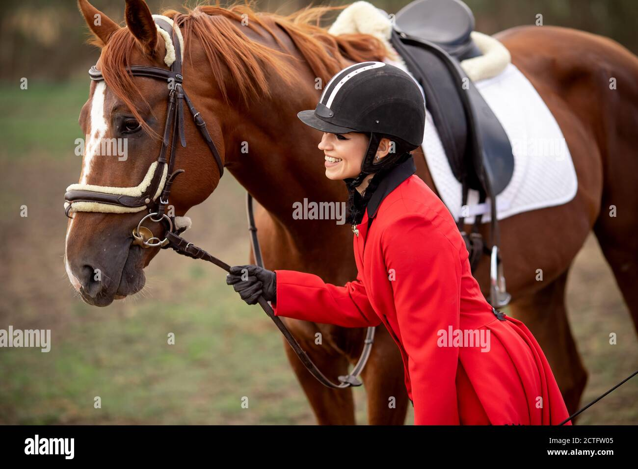 Cruel horse riding ladies Mother who