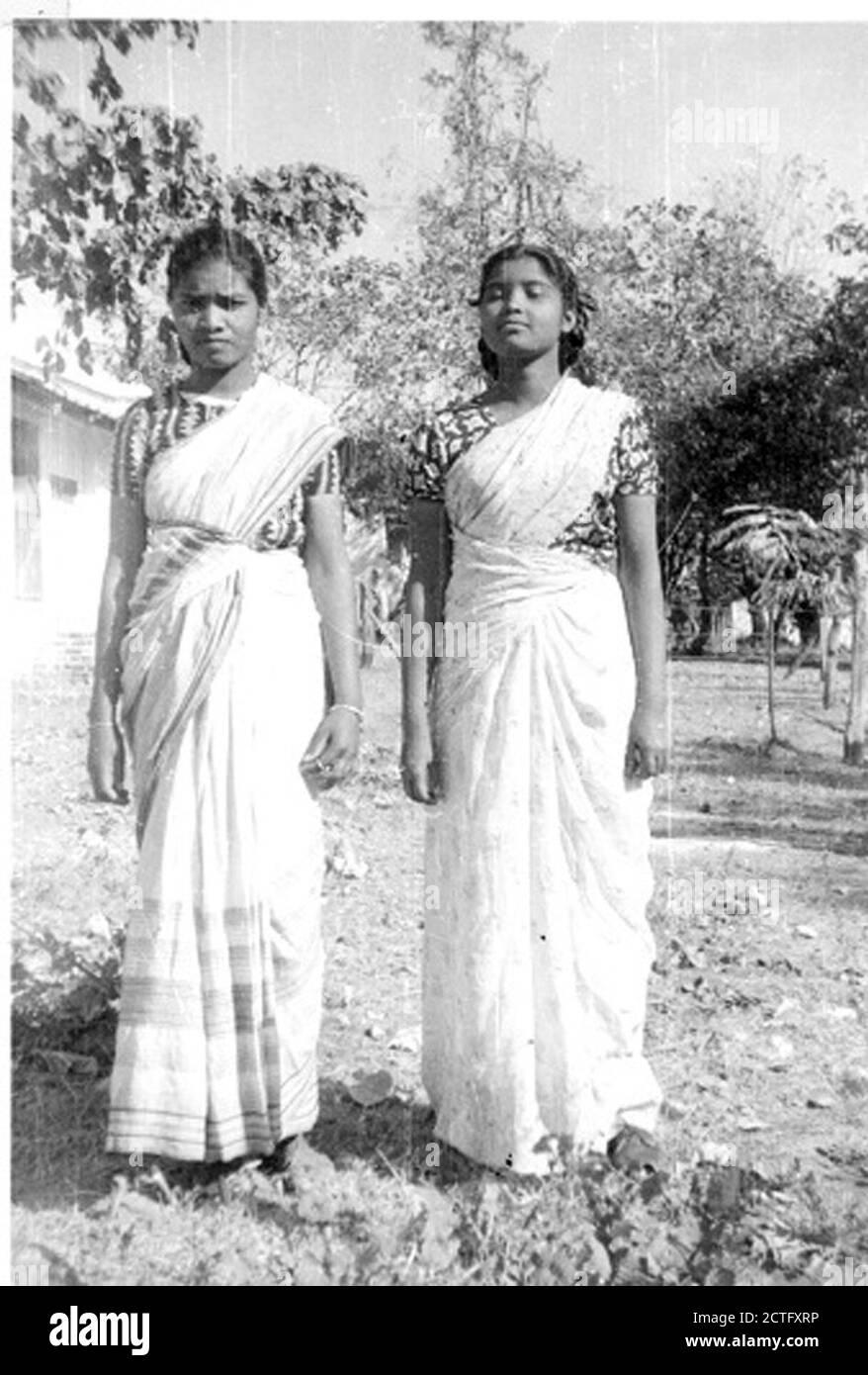 Two Chandwa Bible School students Bihar India   Stock Photo