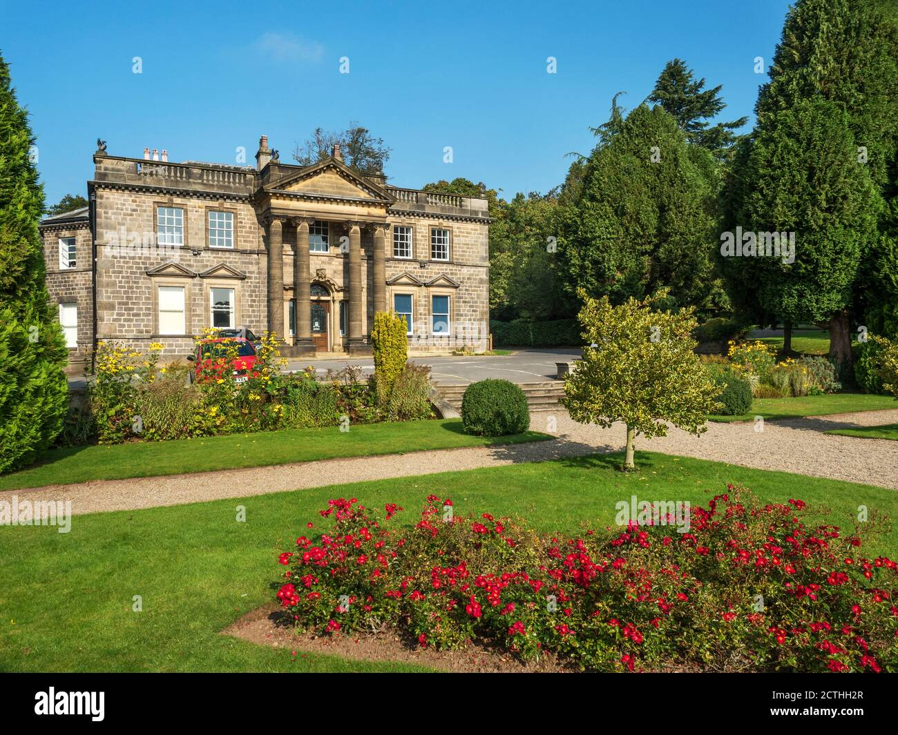 Conyngham Hall a grade II star listed building in Knaresborough North Yorkshire England Stock Photo