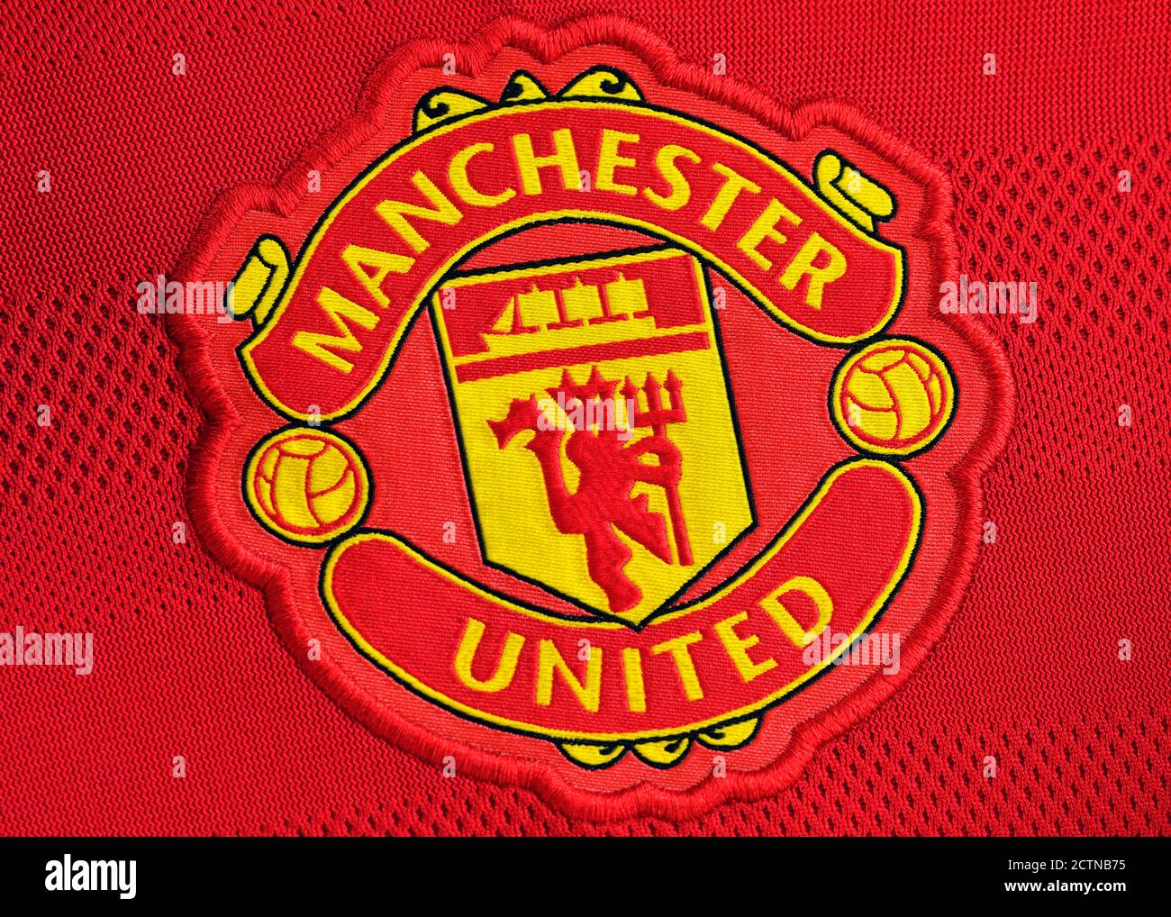 Manchester United Badge High Resolution Stock Photography And Images Alamy