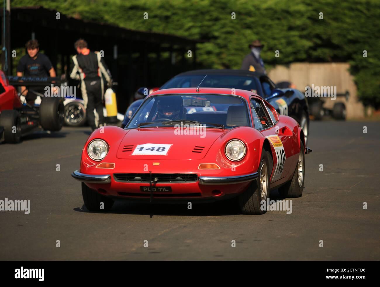 A Red 1973 Ferrari Dino 246 Gt Stock Photo Alamy