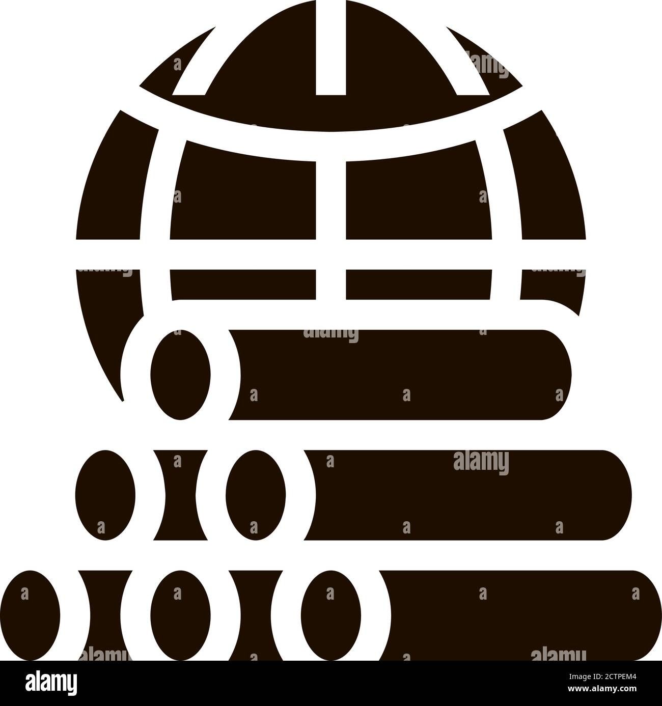 Tubes Planet Earth Problem Vector Icon Stock Vector