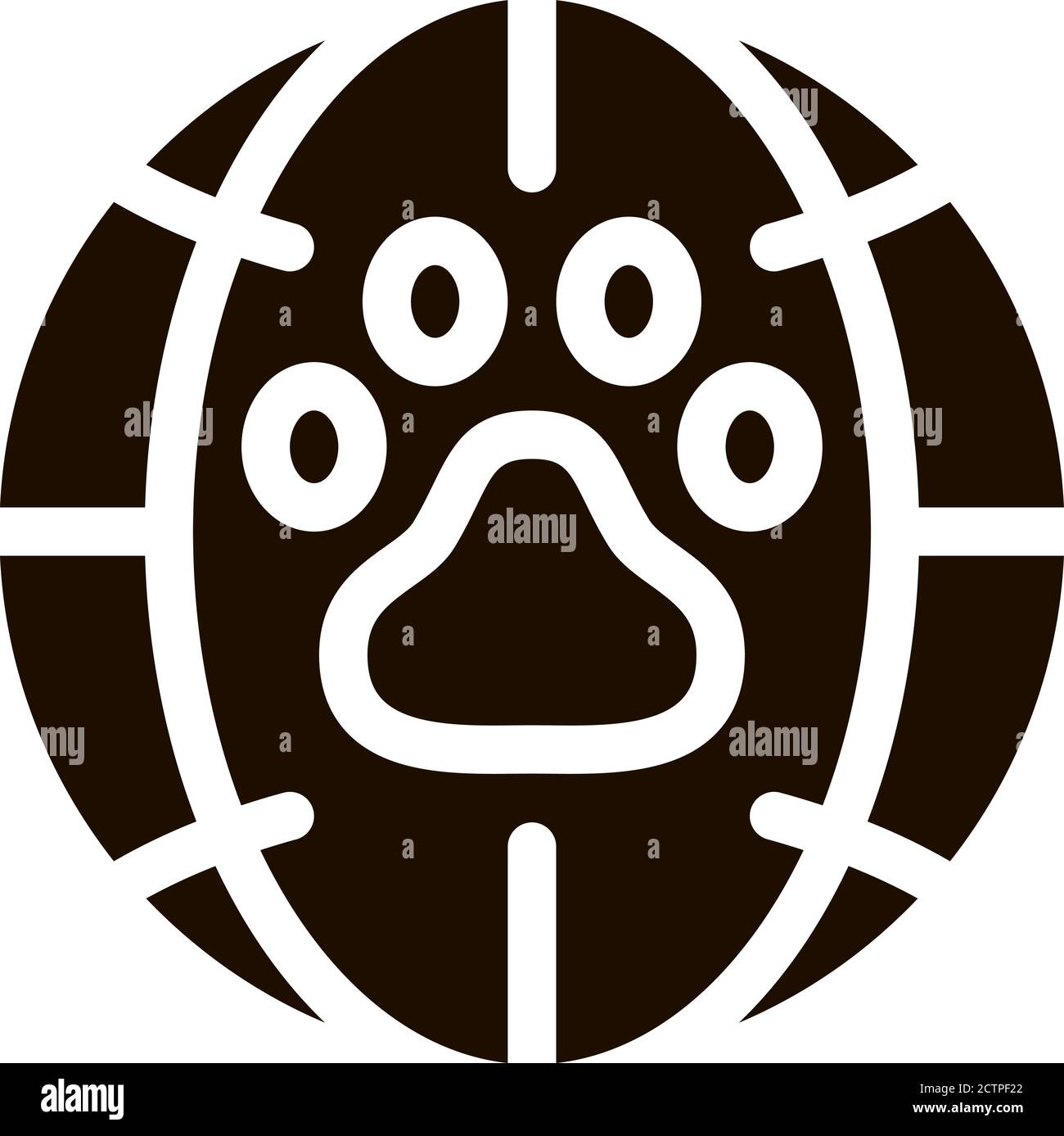 Animal Trail Planet Earth Vector Icon Stock Vector