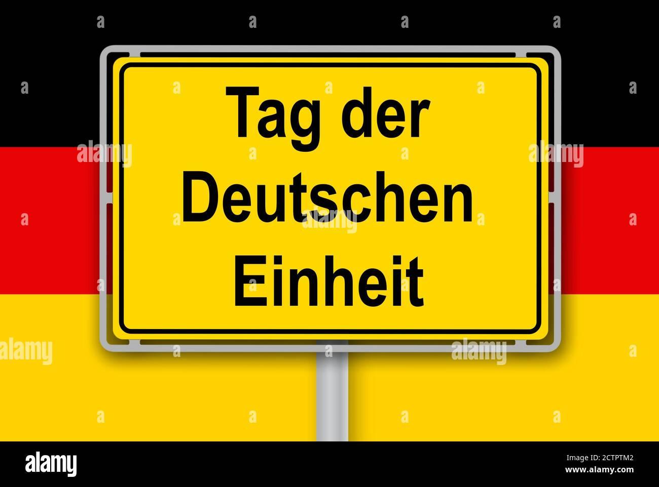 Tag der Deutschen Einheit German Unity Day Stock Photo