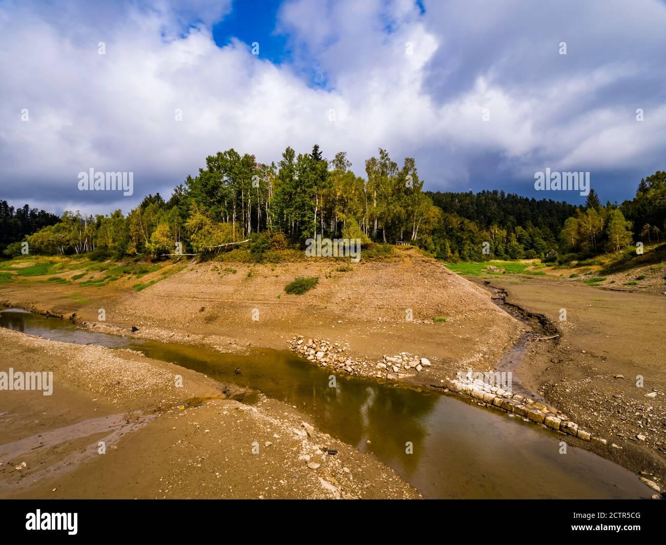 River Mrzlica near Lokvarsko Lokve lake and Mrzla vodica in Croatia Europe Stock Photo