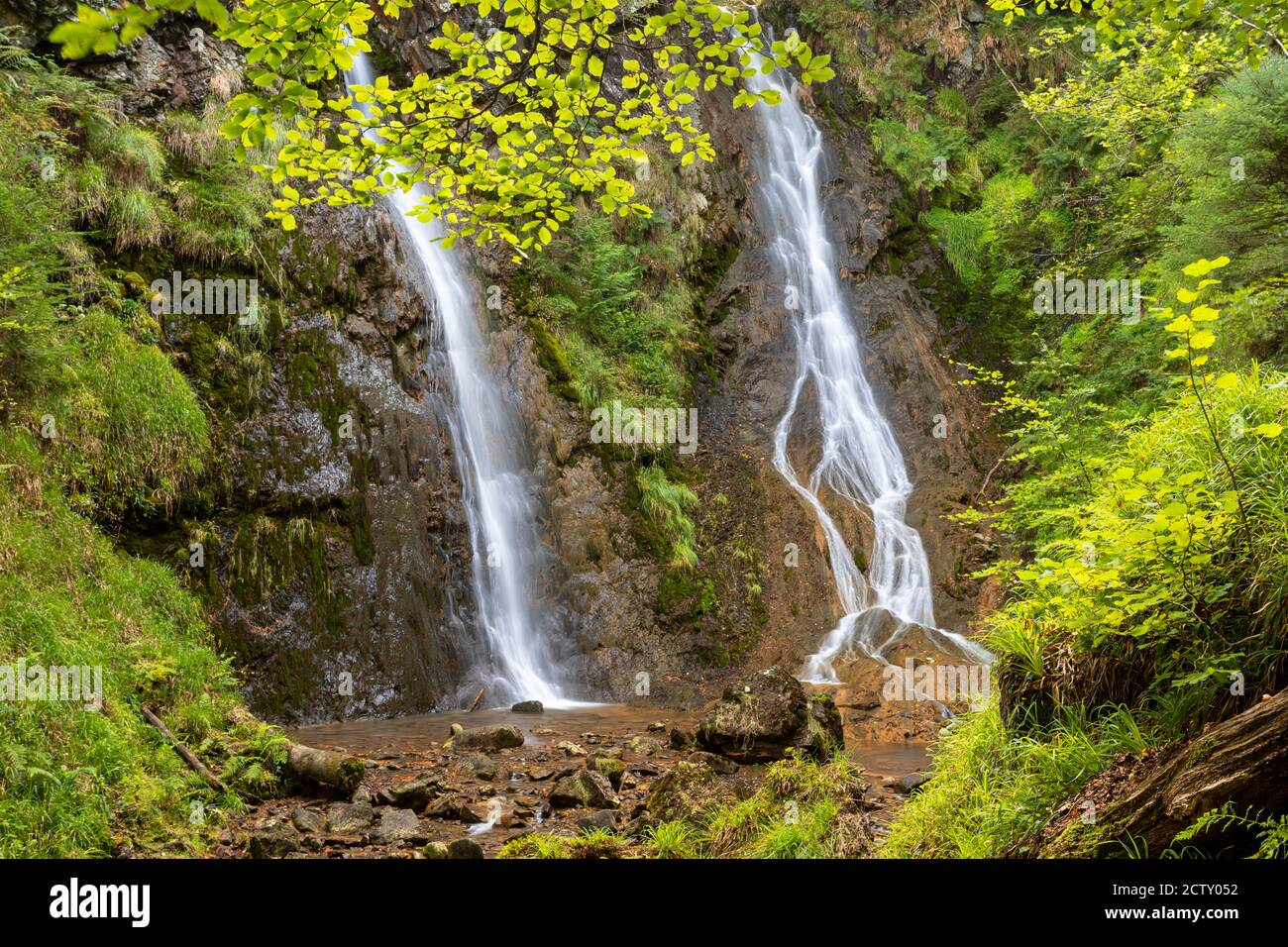 Grey Mare's Tail waterfall, Llanrwst, Snowdonia, North Wales Stock Photo