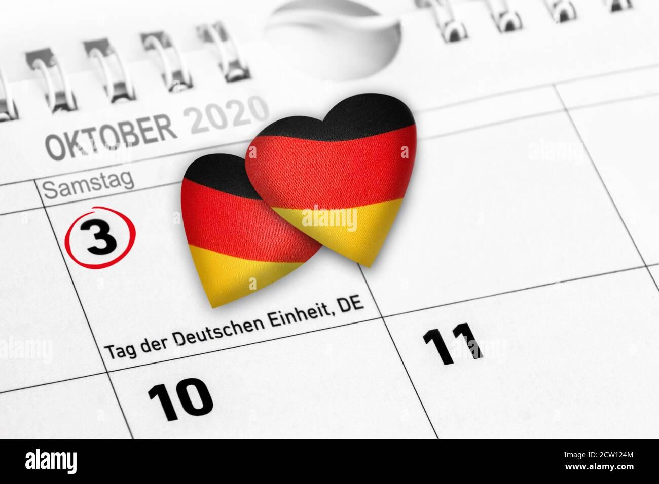30 Jahre Tag der Deutschen Einheit Stock Photo