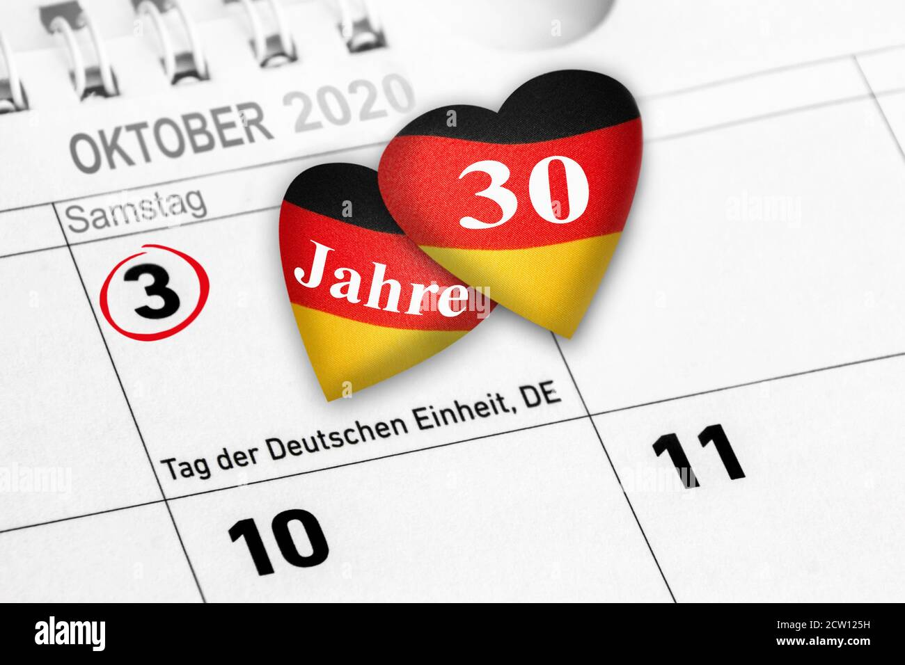 Tag der Deutschen Einheit   German Unity Day Saturday October 3 Stock Photo