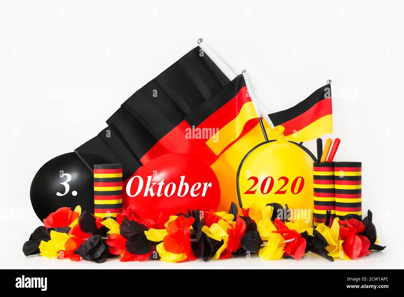 Tag der Deutschen Einheit    German Unity Day Oktober 3 2020 Stock Photo