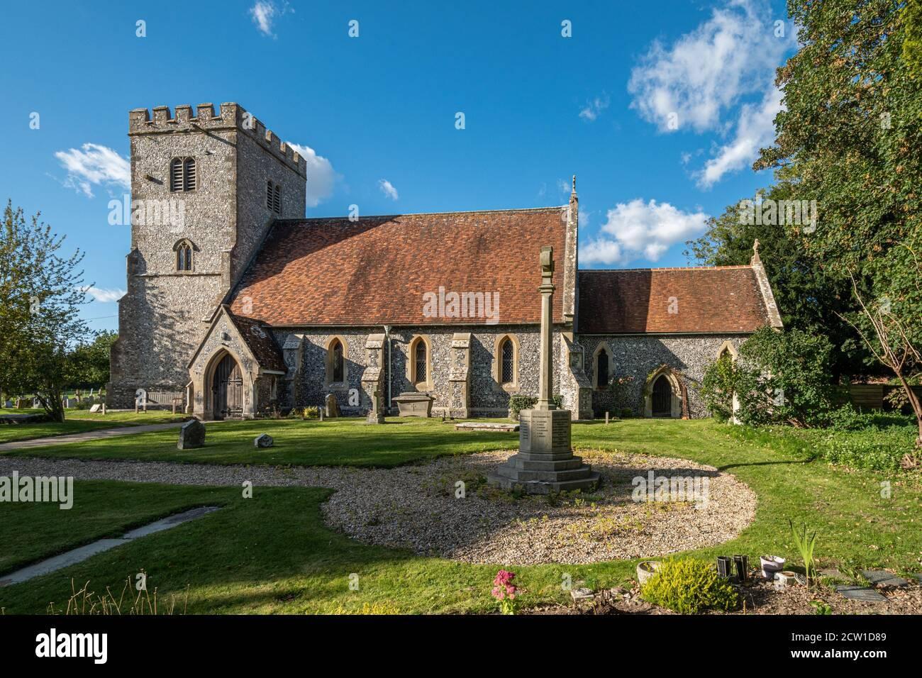 Saint Mary and Saint Nicholas Church in the village of Compton, Berkshire, UK Stock Photo