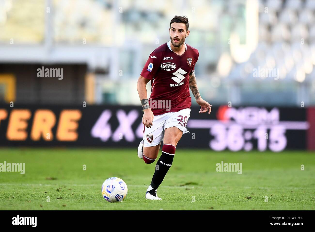 Turin, Italy. 26th Sep, 2020. TURIN, ITALY - September 26, 2020: Nicola Murru of Torino FC in action during the Serie A football match between Torino FC and Atalanta BC. Atalanta BC won 4-2 over Torino FC. (Photo by Nicolò Campo/Sipa USA) Credit: Sipa USA/Alamy Live News Stock Photo