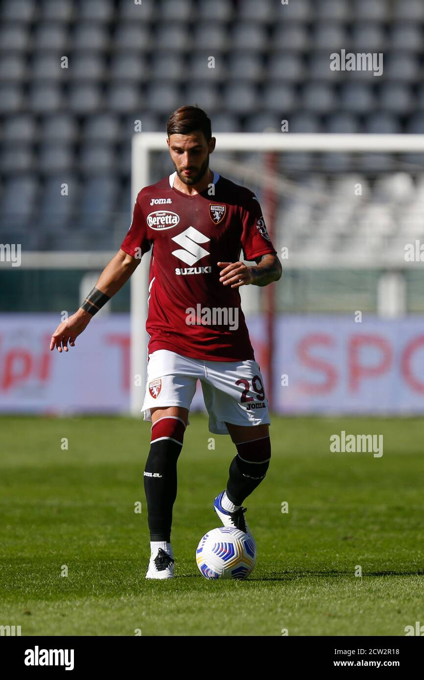 Nicola Murru (Torino FC) during Torino vs Atalanta, italian soccer Serie A match, Turin, Italy, 26 Sep 2020 Stock Photo