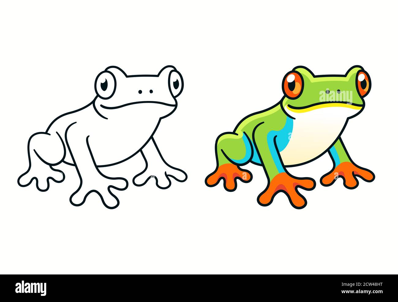 Red Eyed Tree Frog Cute Cartoon Illustration Of Central American Rainforest Frog In The Wild Stock Vector Image Art Alamy Photoshop cs5 autodesk sketchbook pro <3. https www alamy com red eyed tree frog cute cartoon illustration of central american rainforest frog in the wild image376878708 html