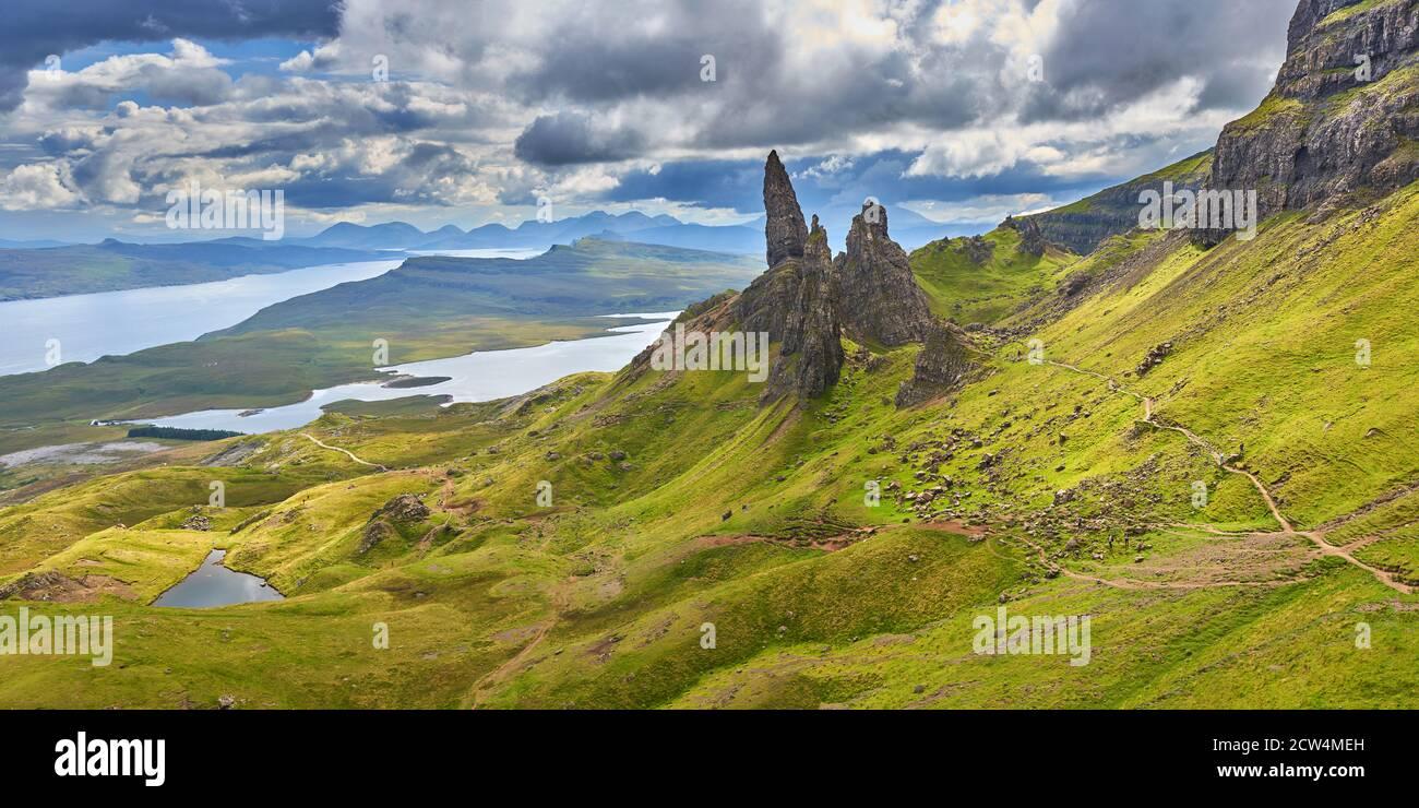 Old Man of Storr Isle of Skye Scotland UK Stock Photo