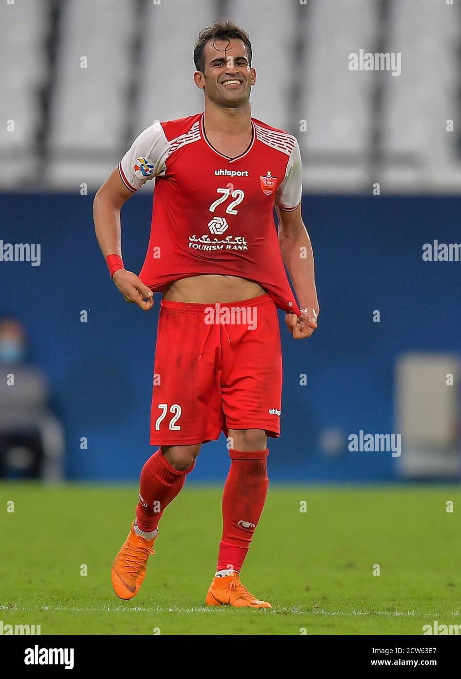 Doha Capital Of Qatar 27th Sep 2020 Iss Ale Kasir Of Persepolis Fc Celebrates After Scoring