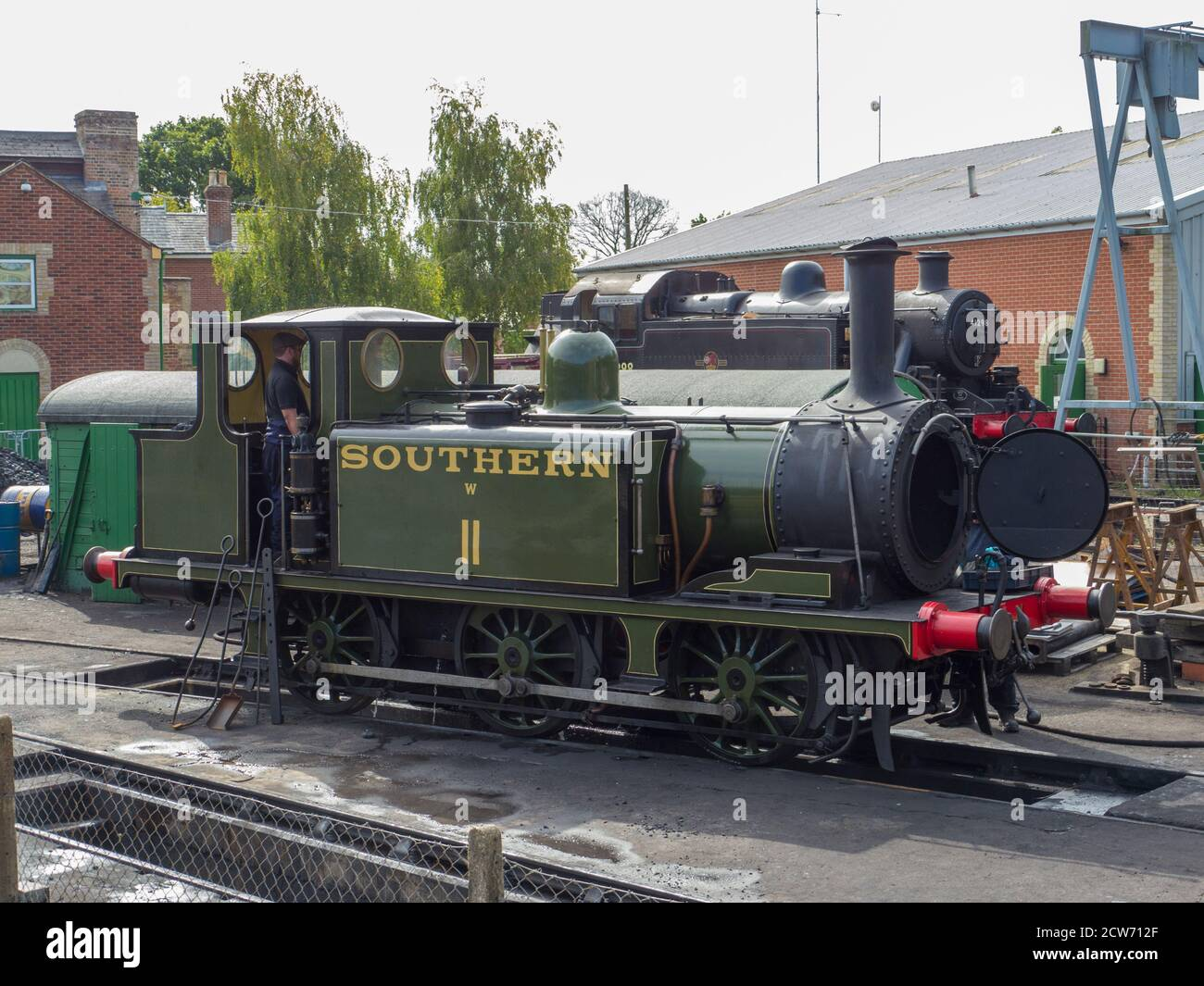 """Class A1X ( Terrier ) Class W11 """" Newport """"at The Isle of Wight Steam Railway Stock Photo"""