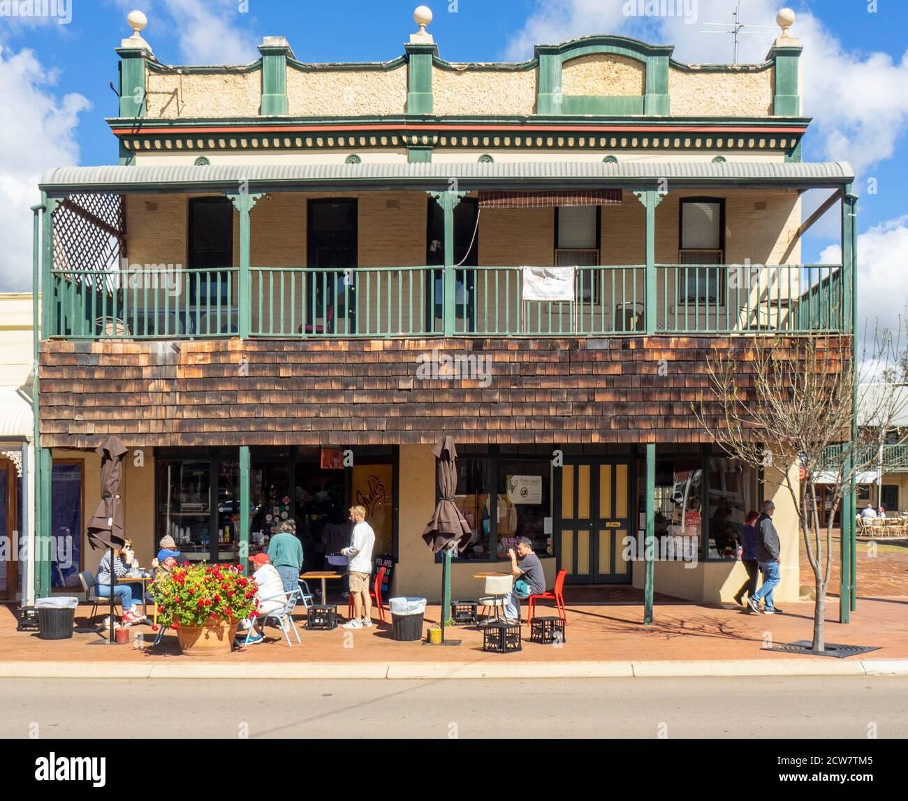 Jules Shoppe popular cafe restaurant on Avon Terrace York Western Australia. Stock Photo