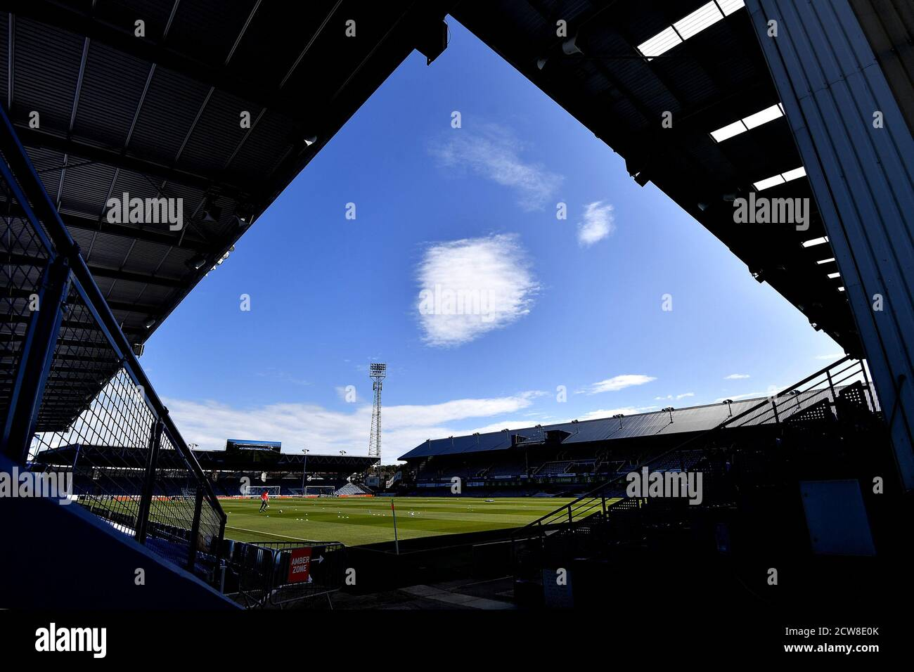 A general view of the stadium - Portsmouth v Wigan Athletic, Sky Bet League One, Fratton Park, Portsmouth, UK - 26th September 2020  Editorial Use Only - DataCo restrictions apply Stock Photo