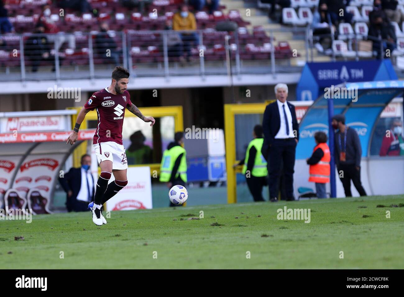 Torino, Italy. 26th September 2020. Nicola Murru of Torino FC   during the the Serie A match  between Torino Fc and Atalanta Calcio. Stock Photo