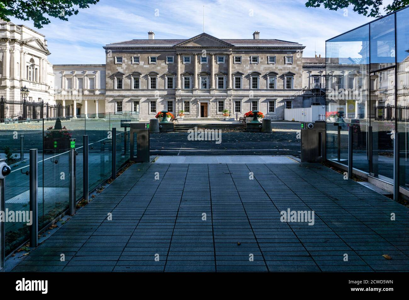 Leinster House, Kildare Street, Dublin,  the  seat of the Oireachtas, the parliament of Ireland., Stock Photo