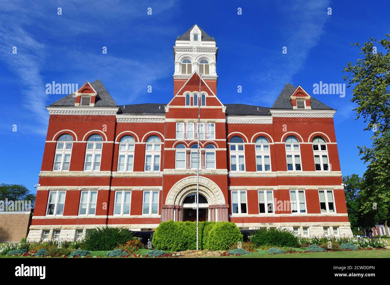 Oregon, Illinois, USA. The Ogle County Courthouse in the county seat of Oregon, Illinois. The building was completed in 1891. Stock Photo