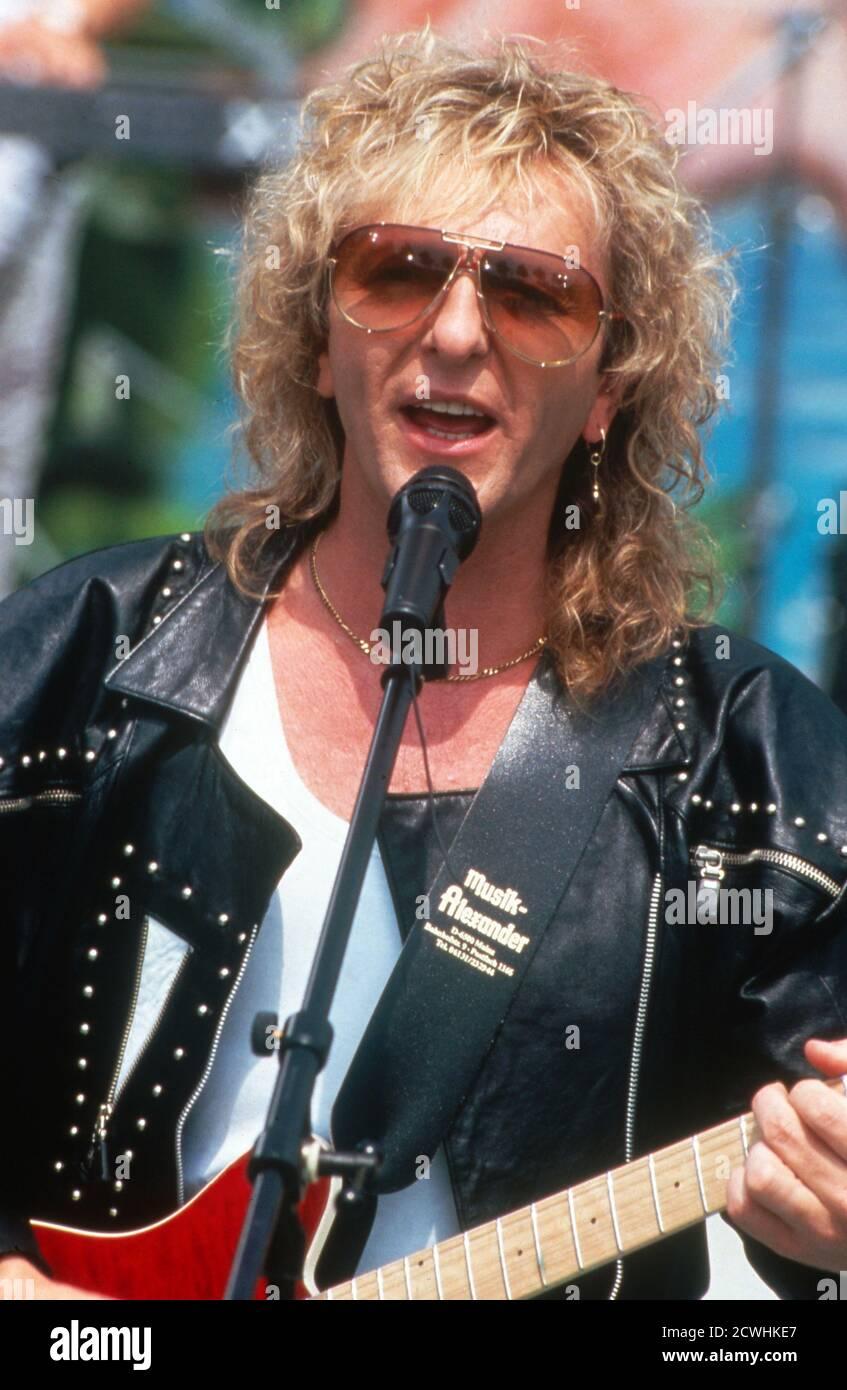 ZDF Fernsehgarten, Sonntags-Unterhaltungsshow, Sendung vom 3. Juli 1994, Gaststar: Band Smokie Stock Photo