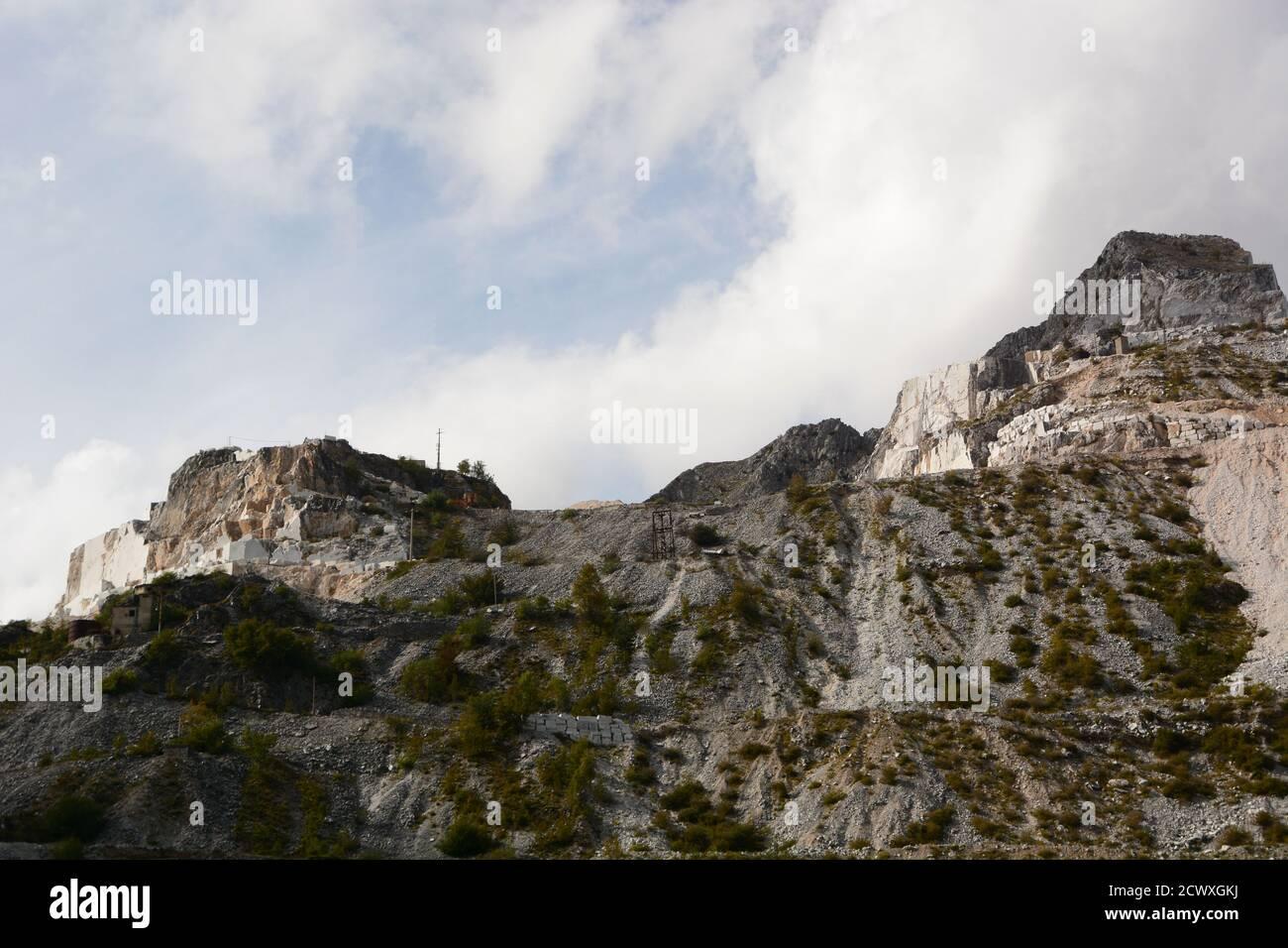 Marble quarry. Colonnata. Carrara. Tuscany. Italy Stock Photo