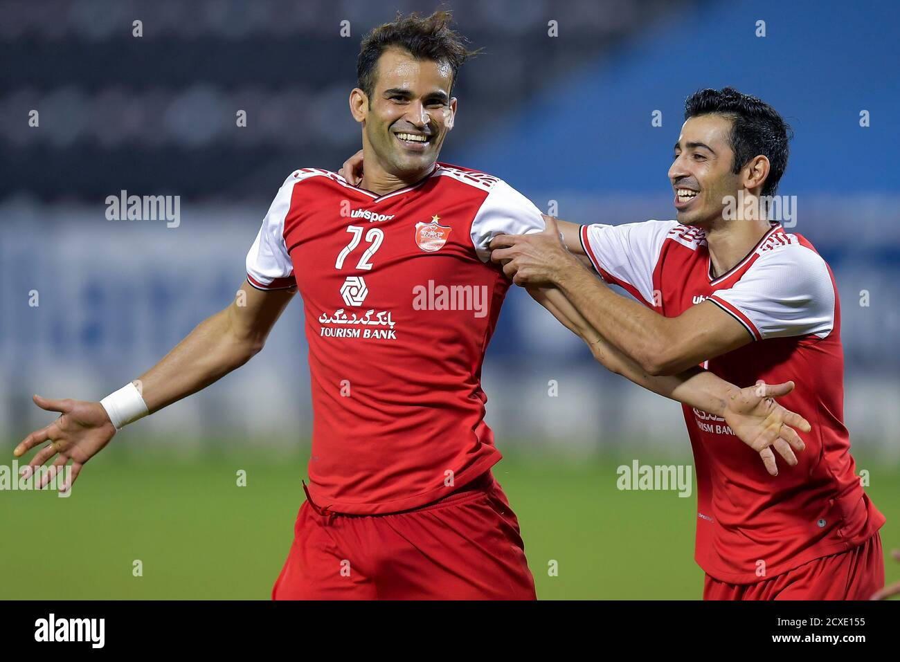 Doha Qatar 30th Sep 2020 Iss Ale Kasir L Of Persepolis Fc Celebrates After Scoring During