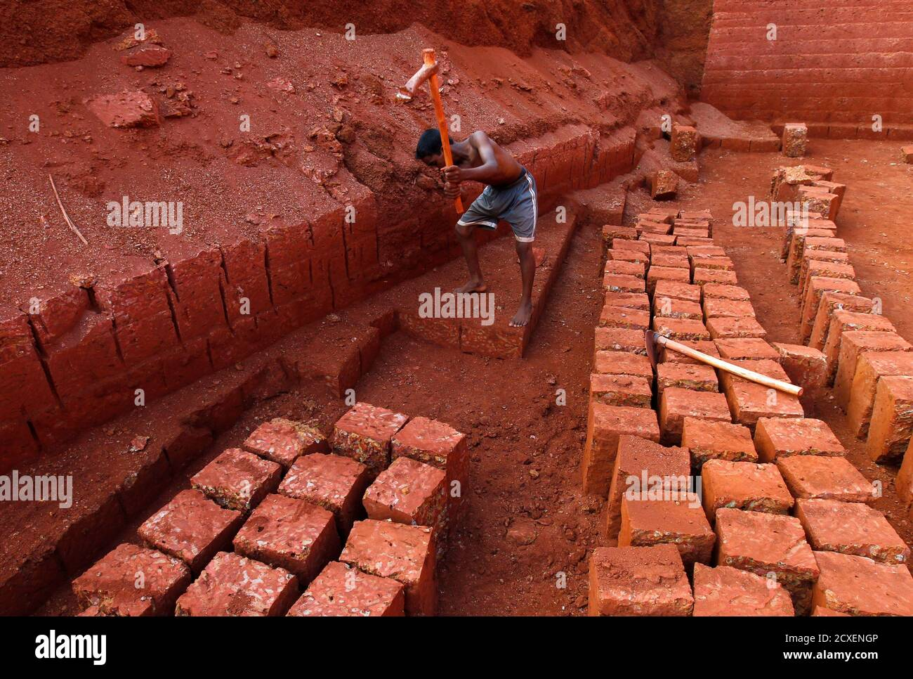 Sunil 14 Works At A Laterite Brick Mine In The Ratnagiri District About 360 Km 224