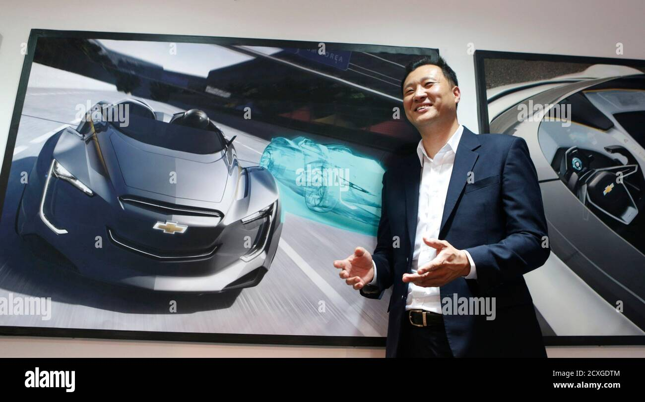 Steve Kim A Director At General Motors Co S Design Studio In South Korea Poses During An