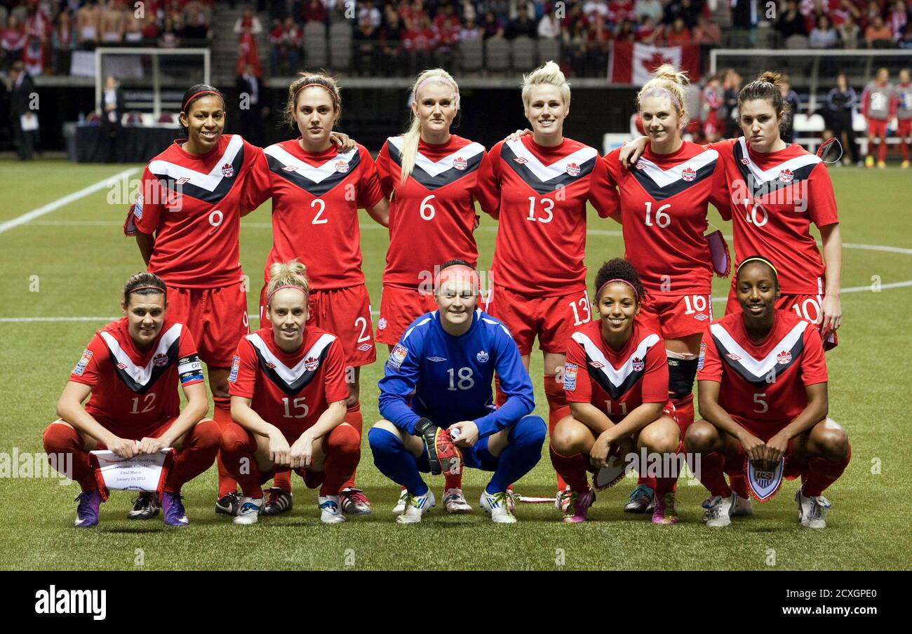 Canada Soccer Team Poses Group High Resolution Stock Photography And Images Alamy