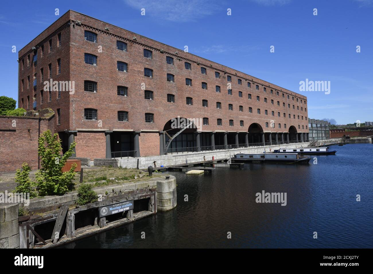 Titanic Hotel, Liverpool, England, UK. Part of the redevelopment of the historic Stanley Dock complex. Stock Photo