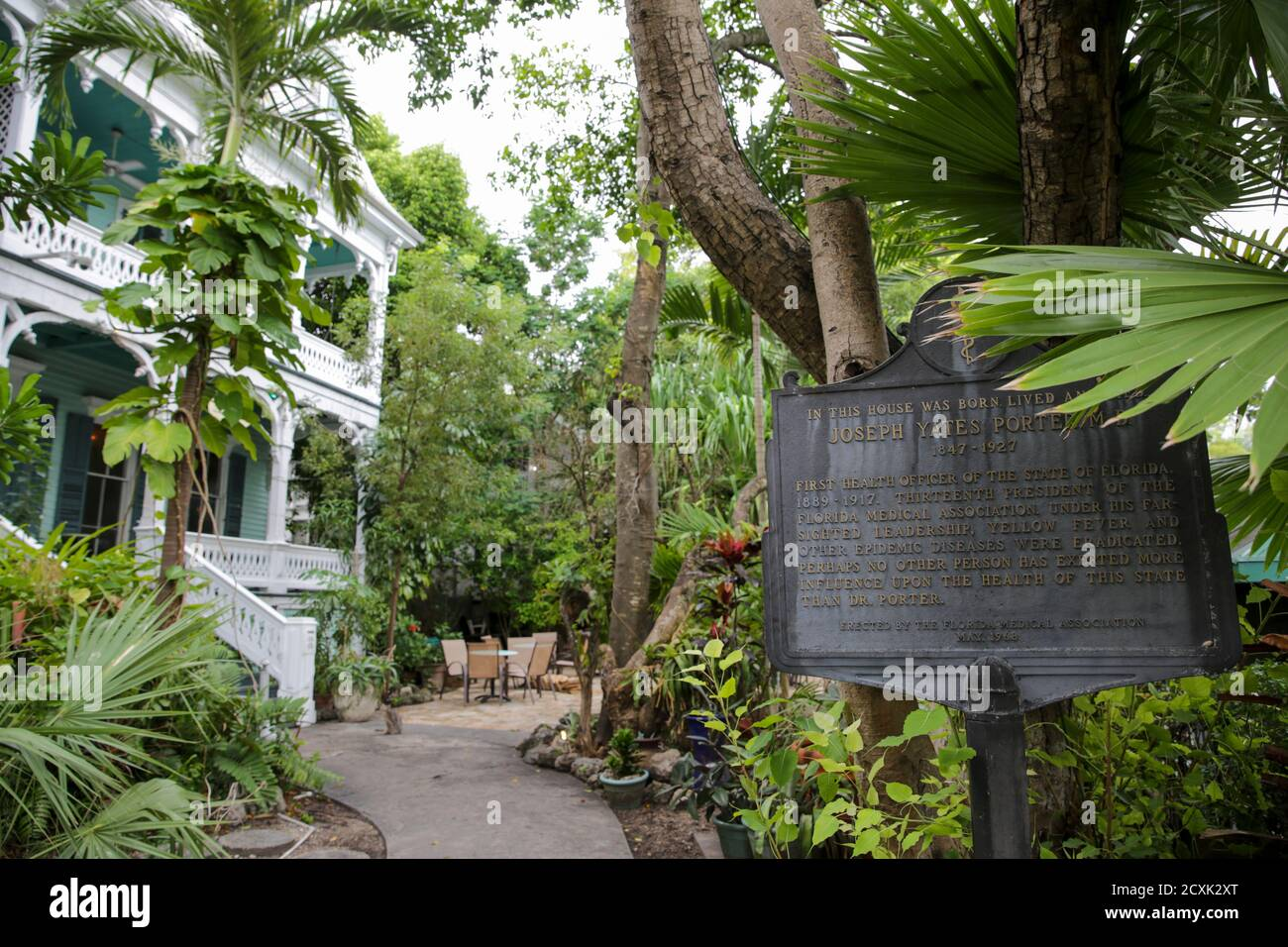 The Dr. Joseph Y. Porter House is a historic home in Key West, Florida. It is located at 429 Caroline Street. The original construction was built in 1 Stock Photo