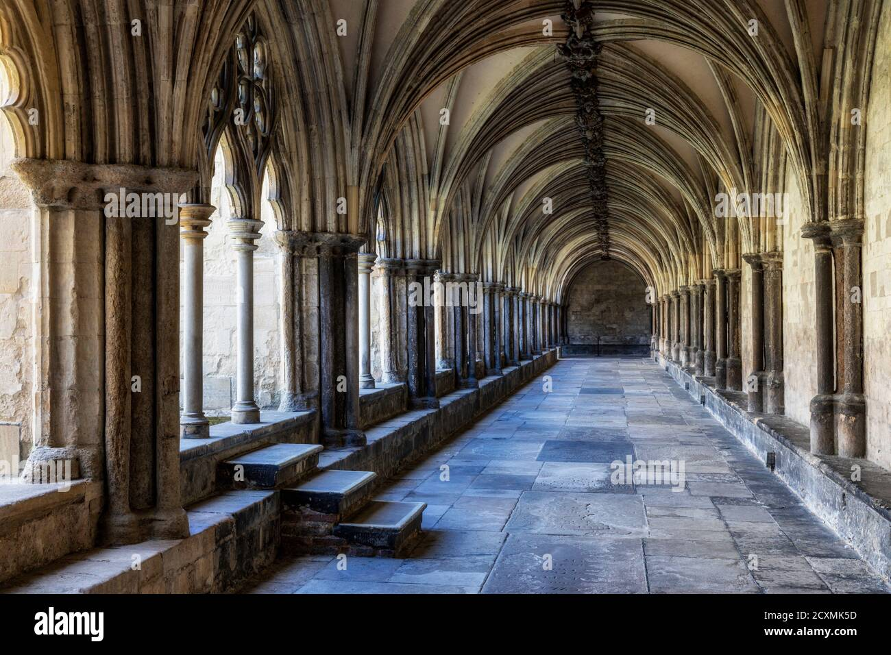 Norwich Cathedral cloisters, Norfolk, England Stock Photo