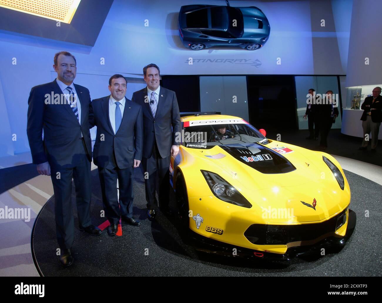 Daniel Ammann President Of Gm Alan Beaty Vice President Of Global Chevrolet And Mark Reuss President