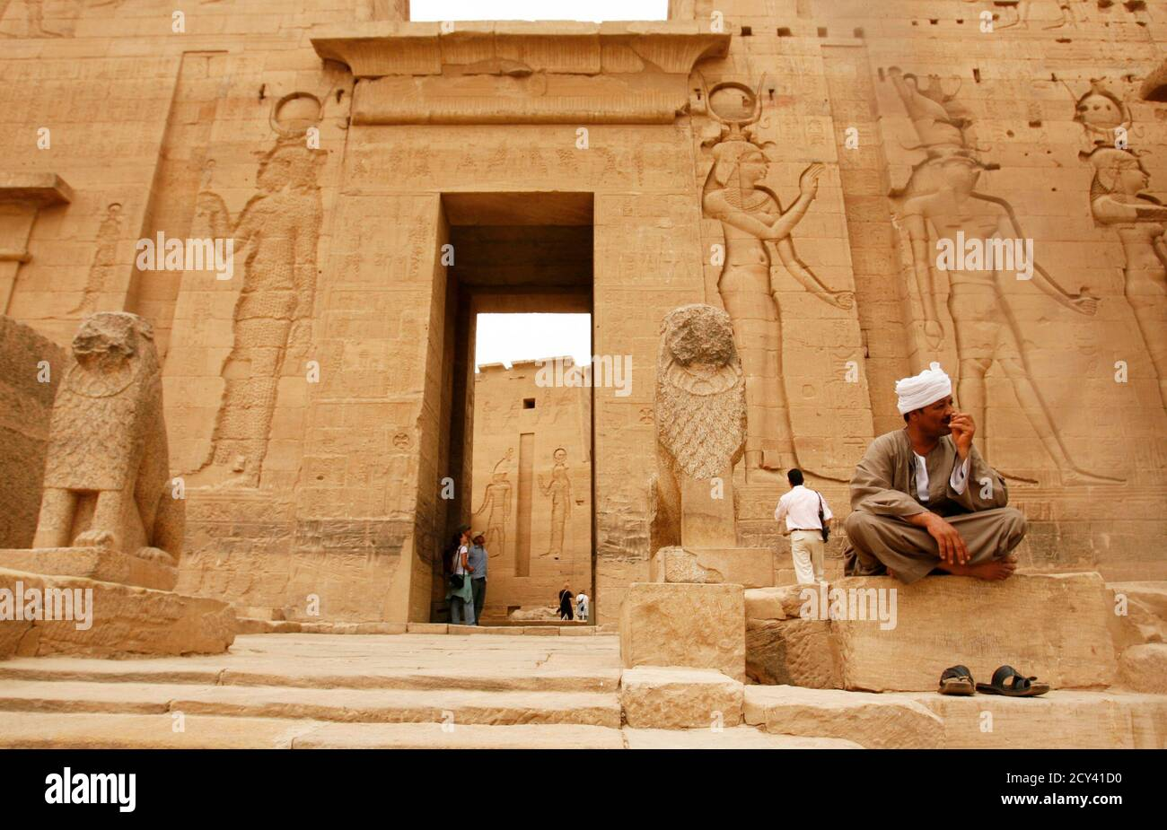 A Guard R Sits Inside Fiela Temple In Aswan In This April 26 2009 File Photo