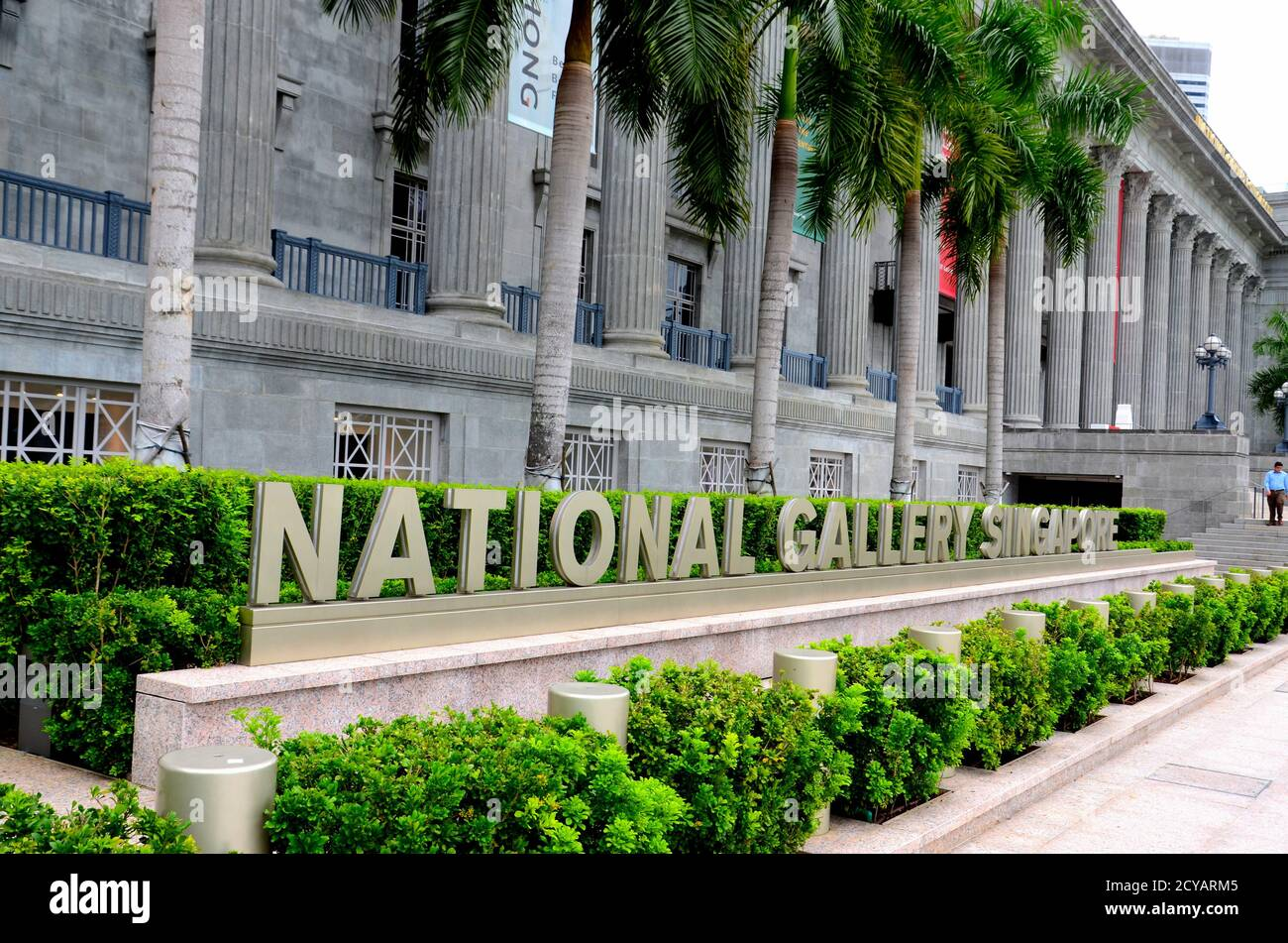 The National Gallery art museum in heritage City Hall building and Supreme Court Singapore Stock Photo