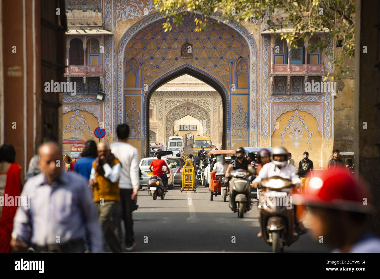 City life through the streets of Jaipur during the Covid-19 outbreak. Stock Photo