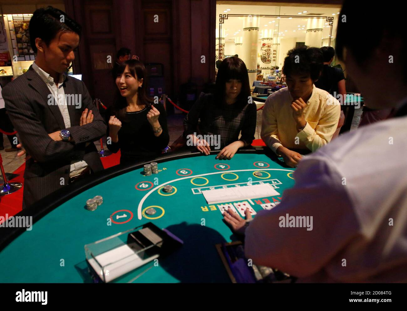 Baccarat Card Game High Resolution Stock Photography And Images Alamy