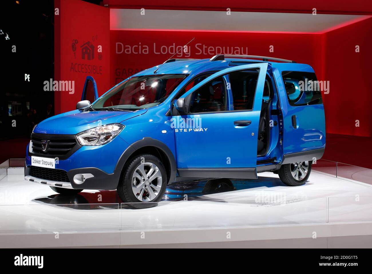 https www alamy com the dacia dokker stepway is displayed on media day at the paris mondial de lautomobile october 2 2014 the paris auto show opens its doors to the public from october 4 to october 19 reutersbenoit tessier france tags transport business image378980789 html