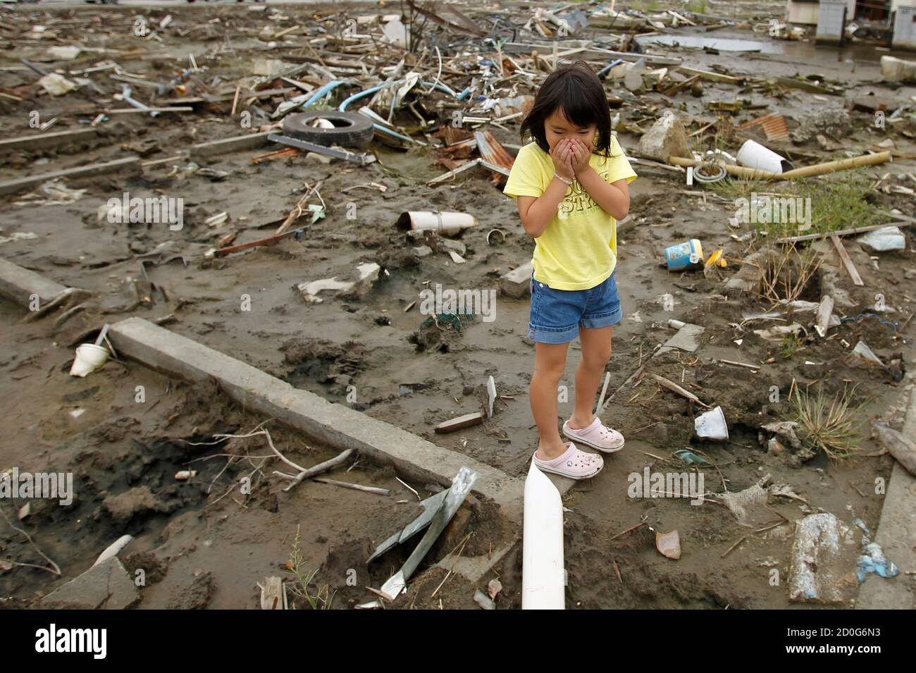 Wakana Kumagai 6 Reacts As She Visits The Spot Where Her House Washed Away By The A wife washed away side quest | the legend of zelda: alamy