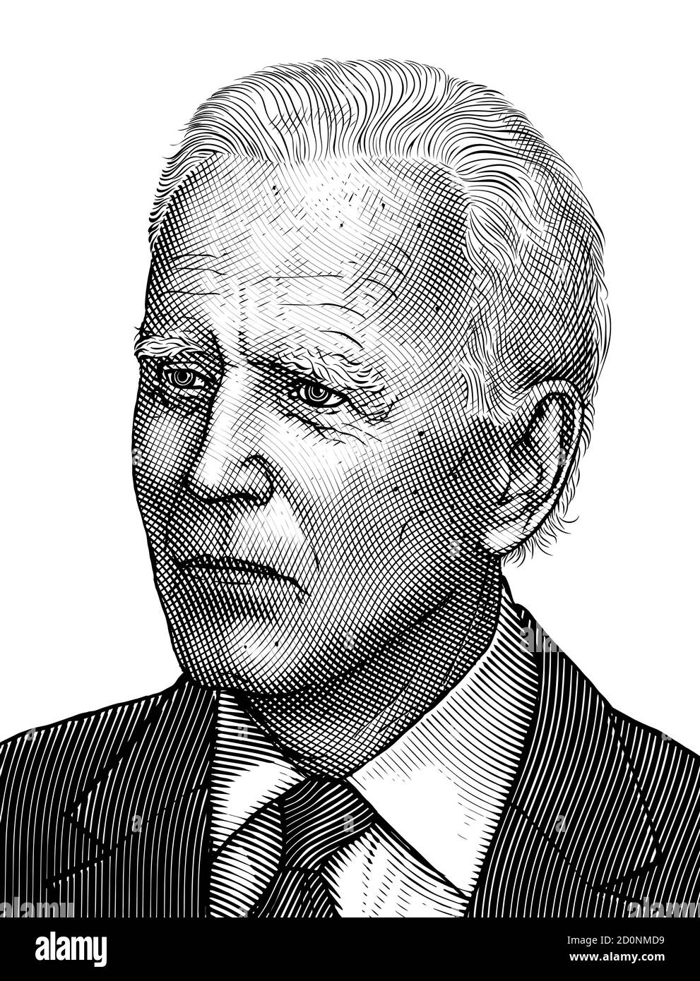 Donald Trump Illustration Black and White Stock Photos & Images - Alamy