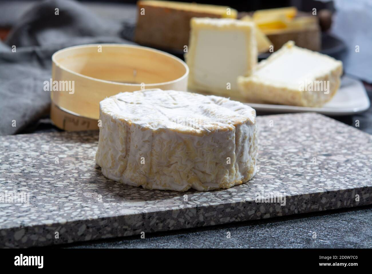 Cheese Collection French Soft Camembert Of Normandy Cheese Made From Cow Milk In Region Normandy France Close Up Stock Photo Alamy