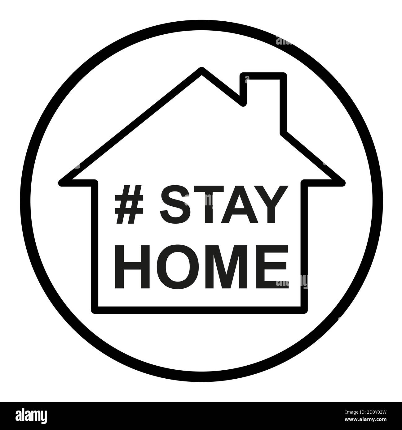 Stay home  icon, house symbol, quarantine covid virus vector illustration isolated on white background . Stock Vector