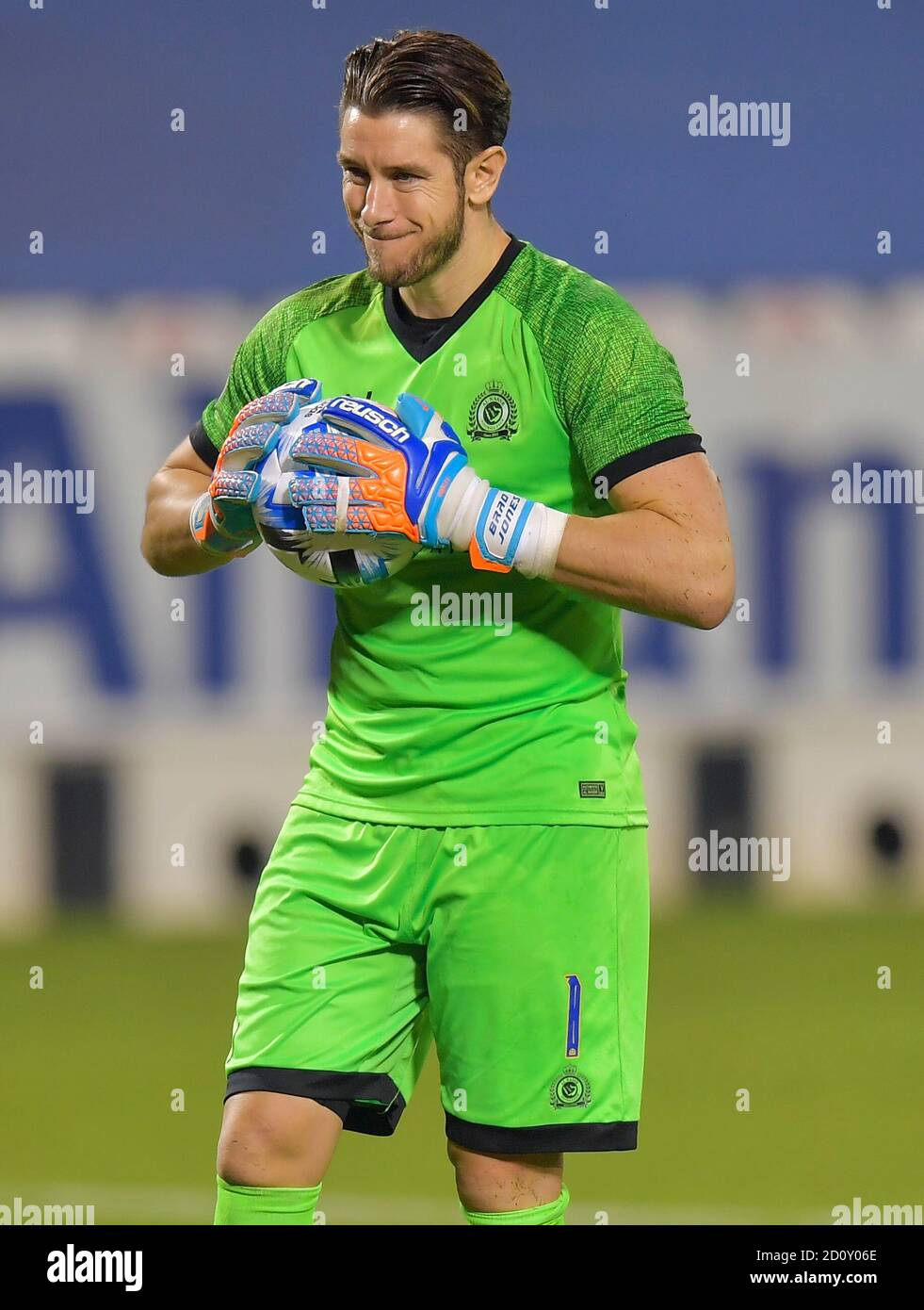 Doha Capital Of Qatar 3rd Oct 2020 Goalkeeper Brad Jones Of Al Nassr Reacts During The Penalty Shootout During The Afc Asian Champions League Semifinal Match Between Persepolis Fc Of Iran And