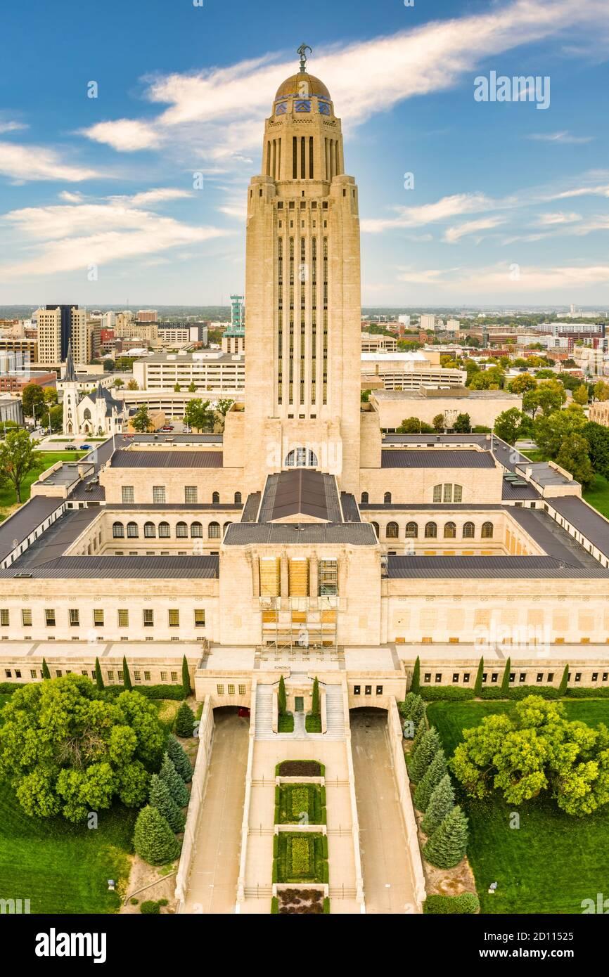 Nebraska State Capitol, in Lincoln, Nebraska Stock Photo