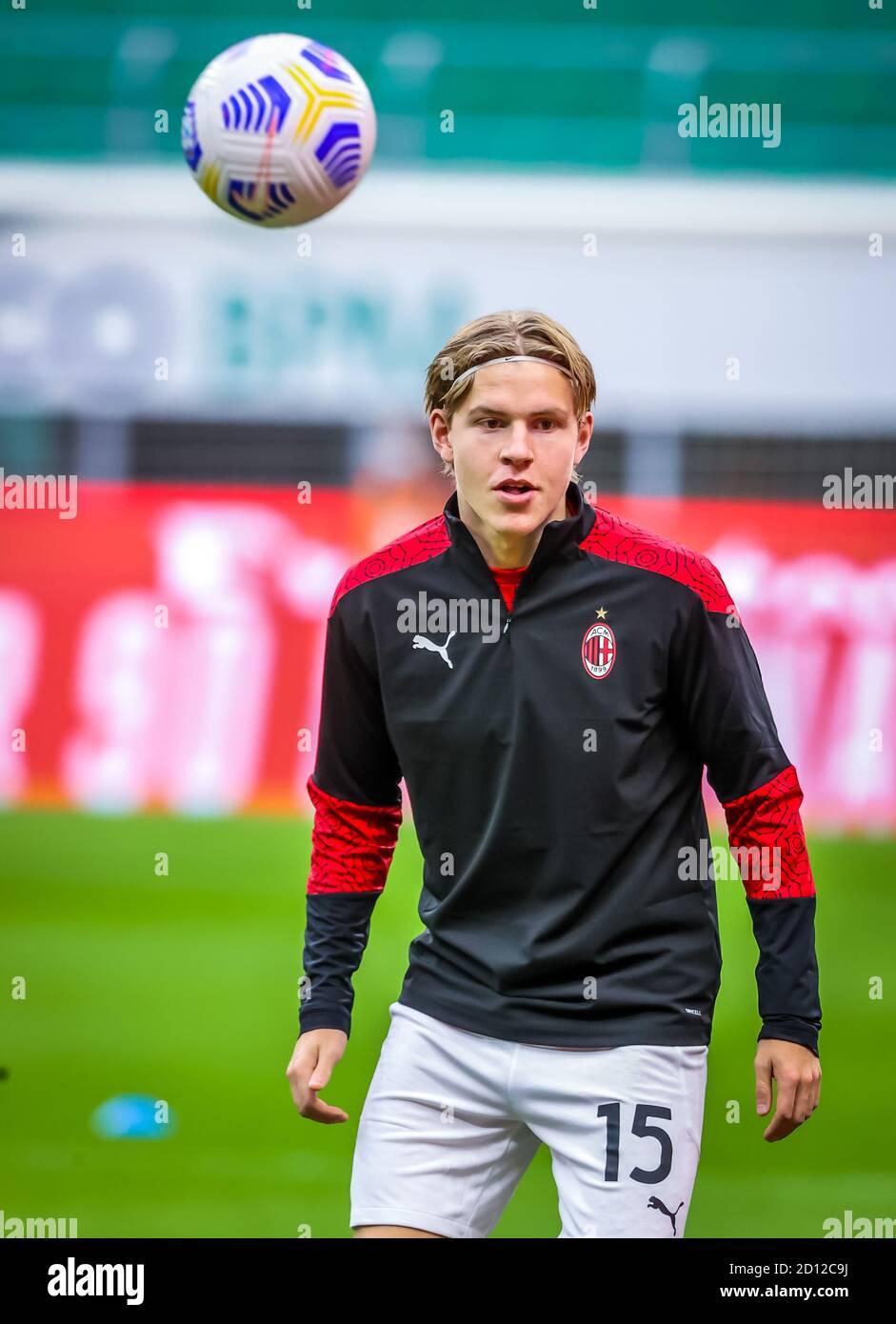 Jens Petter Hauge Of Ac Milan During The Serie A 2020 21 Match Between Ac Milan