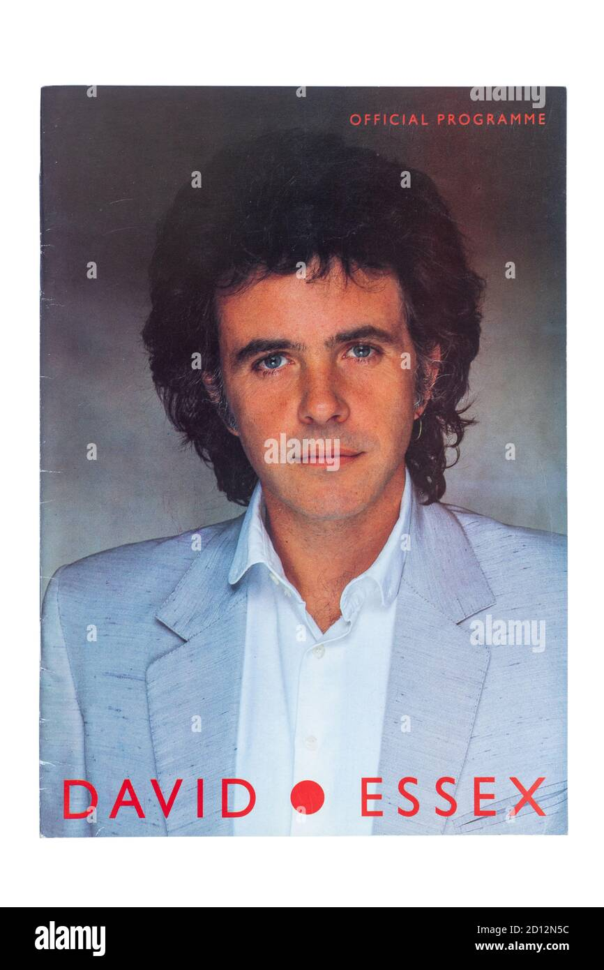 David Essex 1983 UK concert tour official souvenir programme Stock Photo