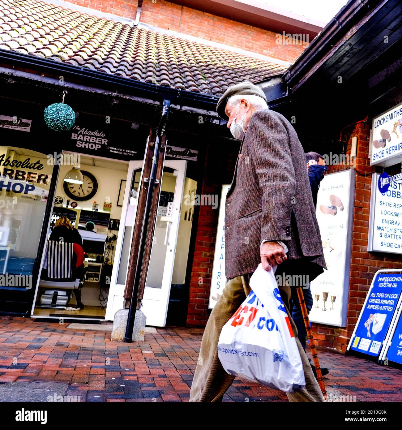 London UK October 2020, Shoppers Wearing Protective Face Coverings Reducing The Risk Of COVID-19 Stock Photo